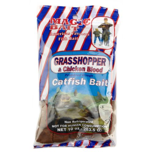 Magic Bait Grasshopper and Chicken Blood Catfish Bait