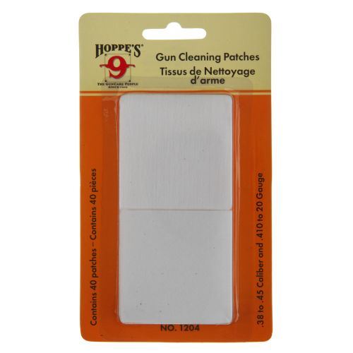 Hoppe's .38 - .45 and .410 Caliber - 20 Gauge Patches 40-Pack - view number 1
