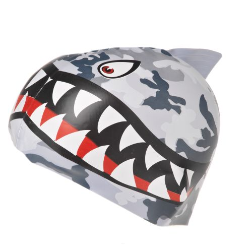 Image for TYR Youth Shark Fin Camo Silicone Swim Cap from Academy