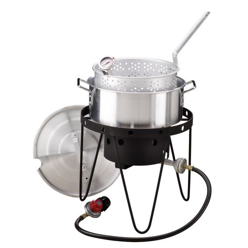 academy outdoor gourmet 10 qt propane fish fryer set