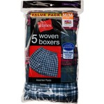 Hanes Boys' TAGLESS® Woven Boxers 5-Pack