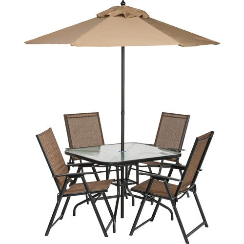Academy Mosaic 6 Piece Folding Patio Set