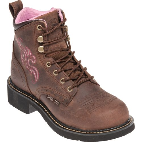 Justin Women's Gypsy® Aged Bark Steel Toe Work Boots - view number 2