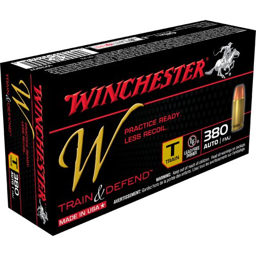 Winchester Train and Defend .380 Auto 95-Grain Centerfire FMJ Pistol Ammunition