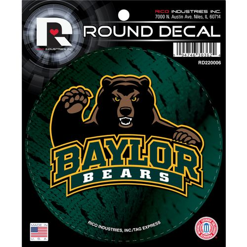 Tag Express Baylor University Round Decal