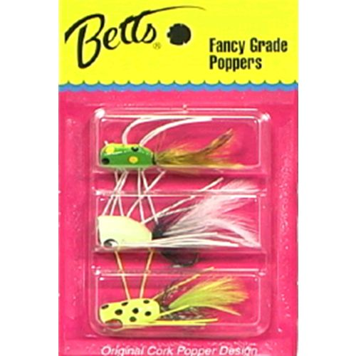 Betts® Fancy Grade Popper Flies 3-Pack