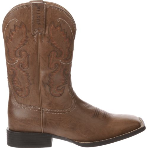 Display product reviews for Justin Men's Wood Burnish Farm and Ranch Boots
