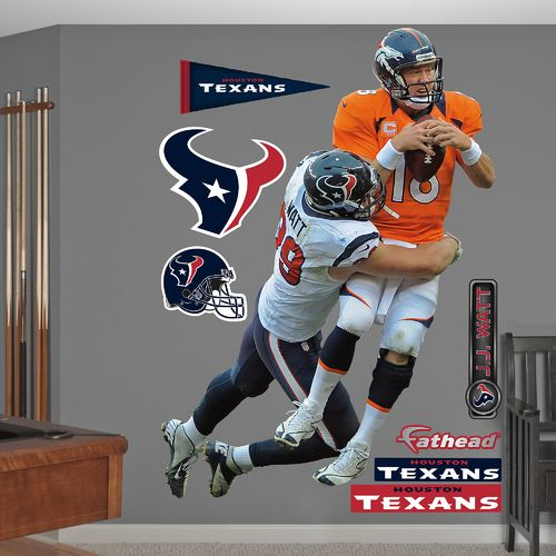 Fathead Houston Texans J.J. Watt #99 Takes It On Team and Player Decals 8-Pack