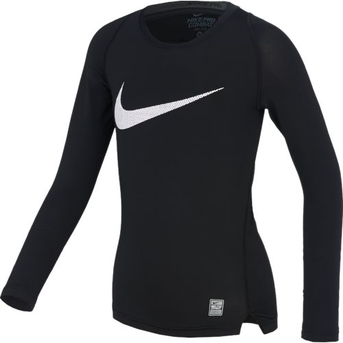 Nike Boys' Hypercool HBR Compression Long Sleeve Top