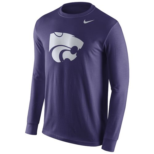 Nike™ Men's Kansas State University Cotton Long Sleeve Logo T-shirt
