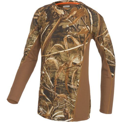 Examples of insulated hunting clothes include cold weather hunting pants, shirts, bibs/coveralls, coats, gloves and face masks. Base layers can also provide an additional layer of warmth and insulation. Waterproof hunting clothing can go hand-in-hand with insulated clothing in the cold, as well as keep you dry while waterfowling in marshy areas.