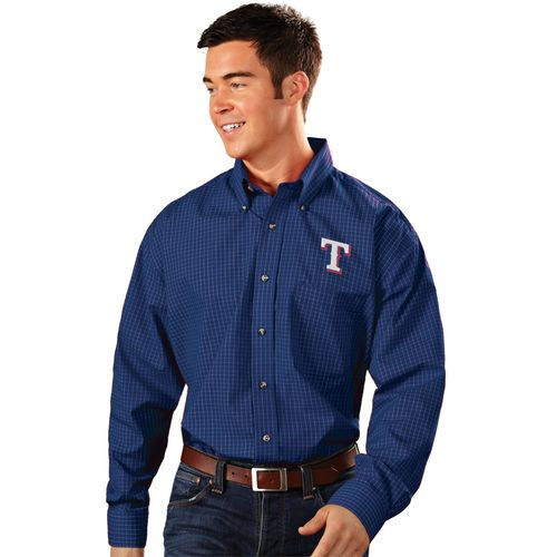 Antigua Men's Texas Rangers Esteem Dress Shirt