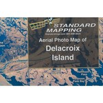 Standard Mapping 302 Delacroix Island Louisiana Folded Map