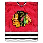 The Northwest Company Chicago Blackhawks Jersey Super Plush Throw - view number 1