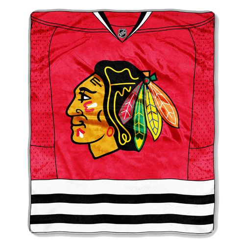 The Northwest Company Chicago Blackhawks Jersey Super Plush Throw