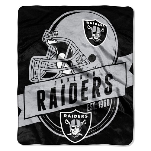 The Northwest Company Oakland Raiders Grandstand Raschel Throw