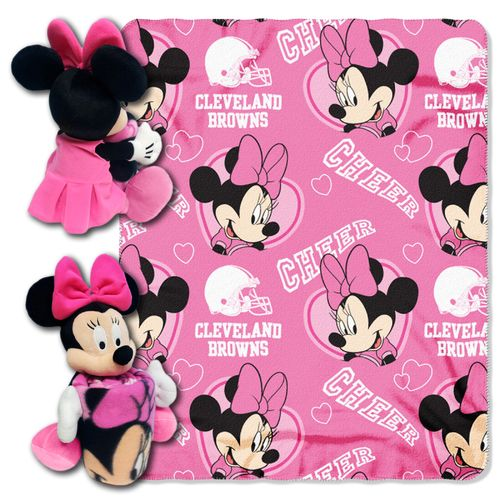 The Northwest Company Cleveland Browns Minnie Mouse Hugger and Fleece Throw Set