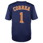 MLB Boys' Houston Astros Carlos Correa #1 Flat Synthetic T-shirt