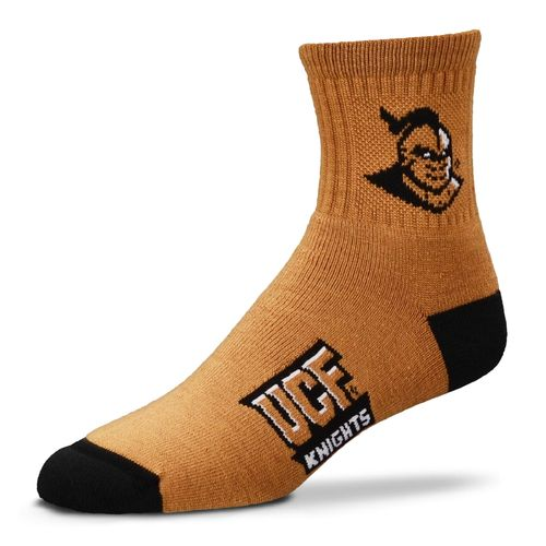 For Bare Feet Men's University of Central Florida Logo Quarter Socks