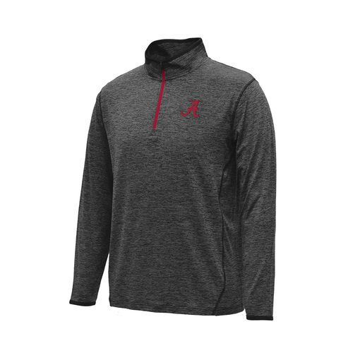 Colosseum Athletics Men's University of Alabama Action Pass Long Sleeve 1/4 Zip Pullover