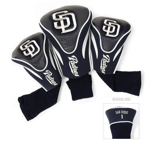 Team Golf San Diego Padres Contour Sock Head Covers 3-Pack