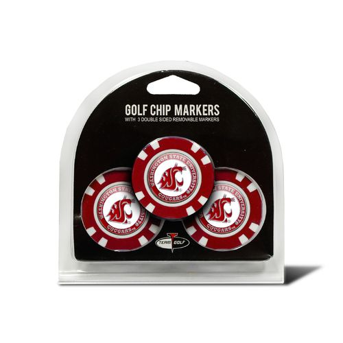 Team Golf Washington State University Poker Chip and Golf Ball Marker Set
