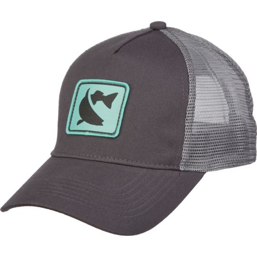 cca men 39 s fish logo patch trucker cap academy