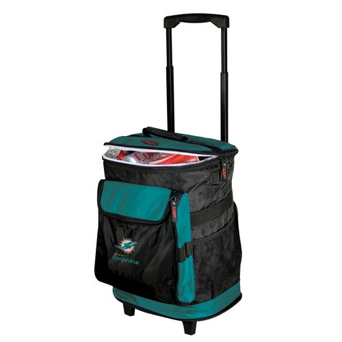 Logo™ Miami Dolphins Rolling Cooler - view number 1