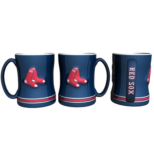 Boelter Brands Boston Red Sox 14 oz. Relief Coffee Mugs 2-Pack