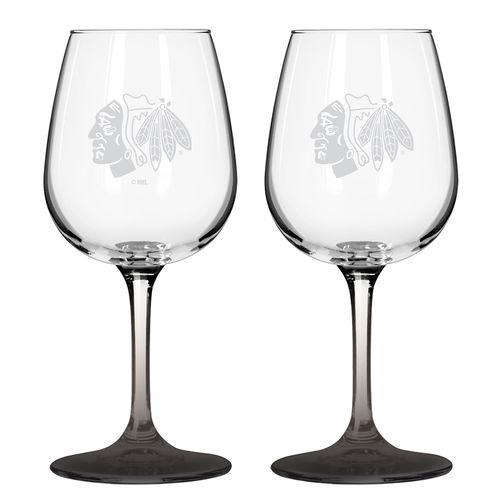 Boelter Brands Chicago Blackhawks 12 oz. Wine Glasses 2-Pack