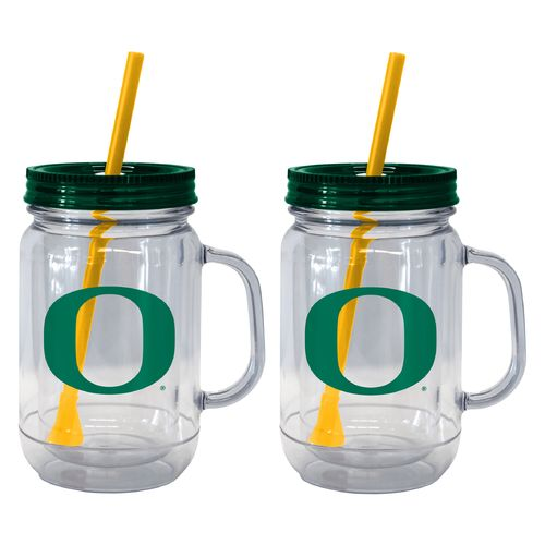 Boelter Brands University of Oregon 20 oz. Handled Straw Tumblers 2-Pack