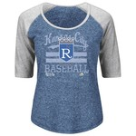Majestic Women's Kansas City Royals All In The Win Raglan T-shirt