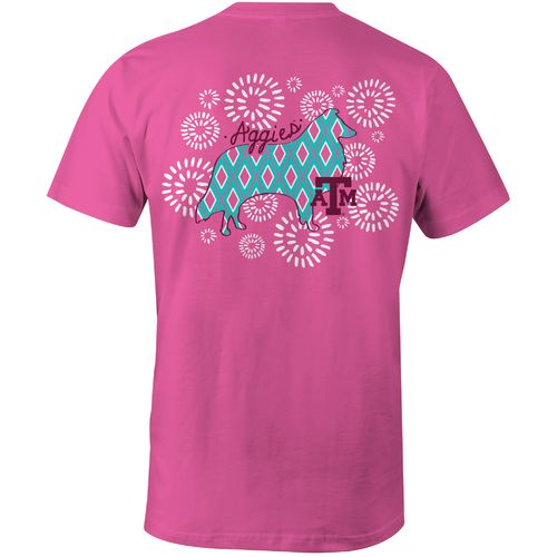 Image One Women's Texas A&M University Fireworks Comfort Color T-shirt