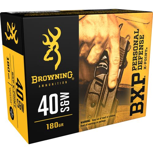 Display product reviews for Browning Personal Defense .40 S&W 180-Grain Pistol Ammunition