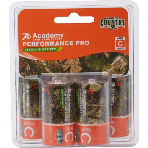 Academy Sports + Outdoors Performance Pro Mossy Oak C Alkaline Batteries 4-Pack
