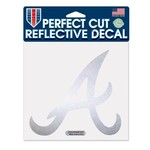 WinCraft Atlanta Braves Reflective Perfect Cut Decal