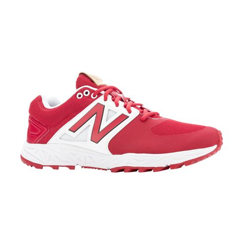 new balance red turf shoes