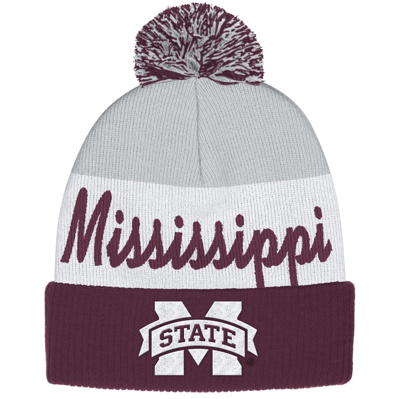 adidas™ Men's Mississippi State University Cuffed Pom Knit