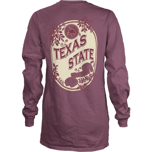 Three Squared Juniors' Texas State University Maya Long Sleeve T-shirt