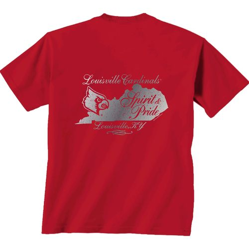New World Graphics Women's University of Louisville Distress CC T-shirt