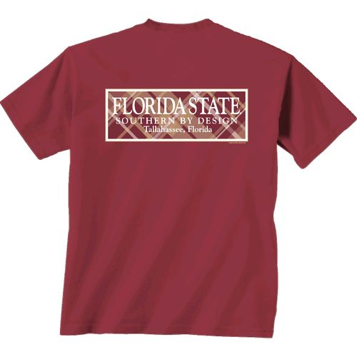 New World Graphics Women's Florida State University Madras T-shirt