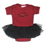 Two Feet Ahead Infant Girls' University of Arkansas Pin Dot Tutu Creeper
