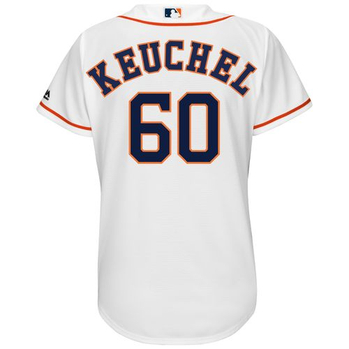 Majestic Women's Houston Astros Dallas Keuchel #60 Authentic Cool Base Home Jersey