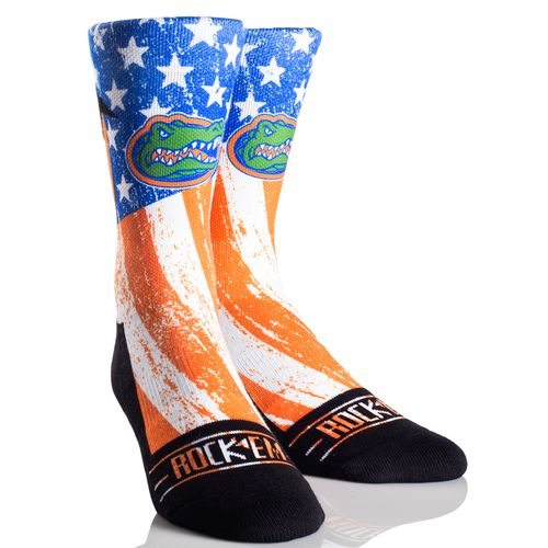 Rock 'Em Apparel Men's University of Florida Stars and Stripes Socks