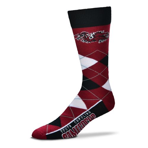 For Bare Feet Unisex University of South Carolina Team Pride Flag Top Dress Socks