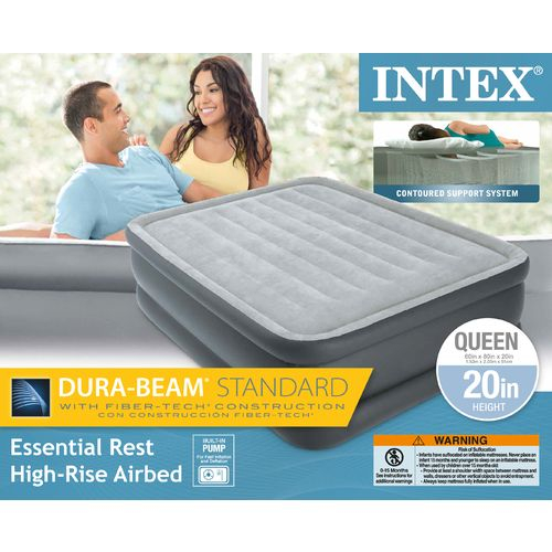 INTEX Dura-Beam Essential Rest Queen-Size Airbed with Built-In Pump - view number 2