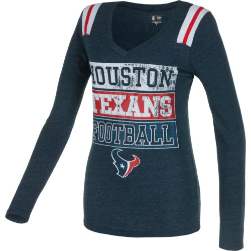 5th & Ocean Clothing Juniors' Houston Texans Block Lettering Long Sleeve T-shirt - view number 1