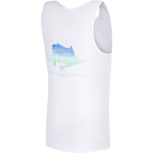 Guy Harvey Men's Sailfish Scribble Tank Top