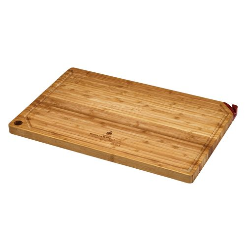 FireDisc® Bamboo Cutting Board with Knife Sharpener