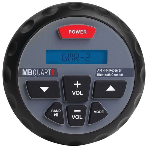 MB Quart Nautic Series GMR-2 In-Dash Bluetooth-Enabled Gauge-Mount Radio